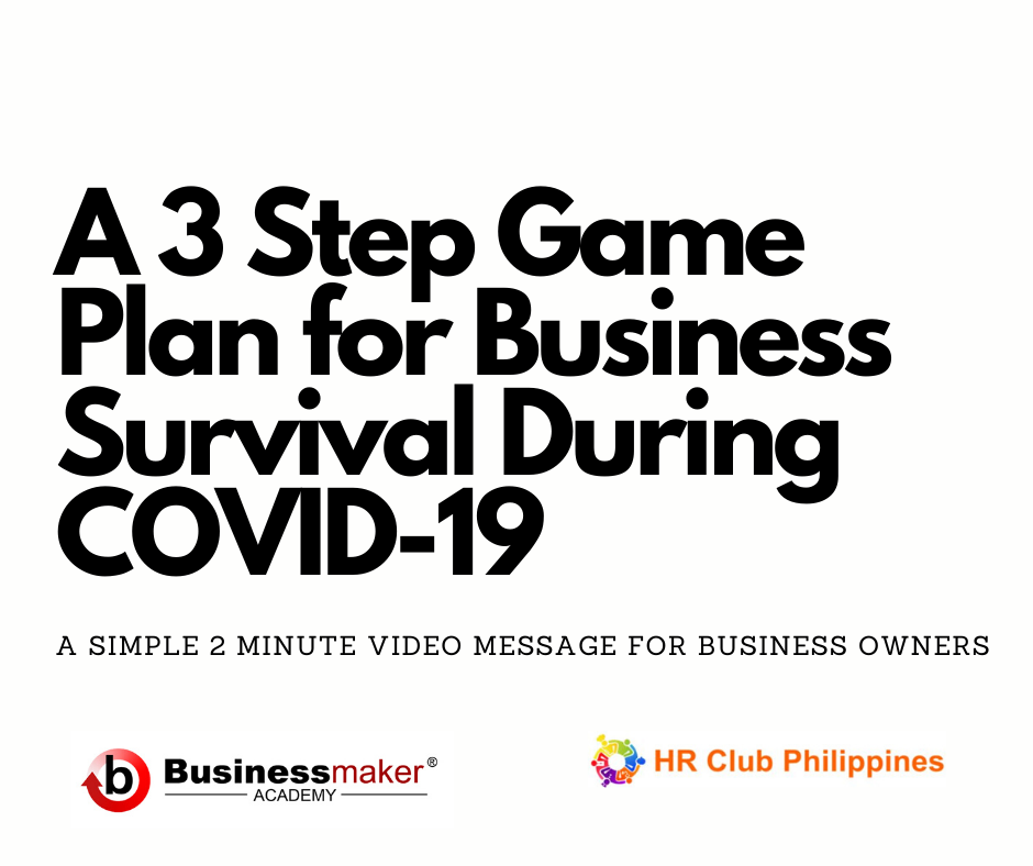 A 3 Step Game Plan For Business Survival During Covid 19