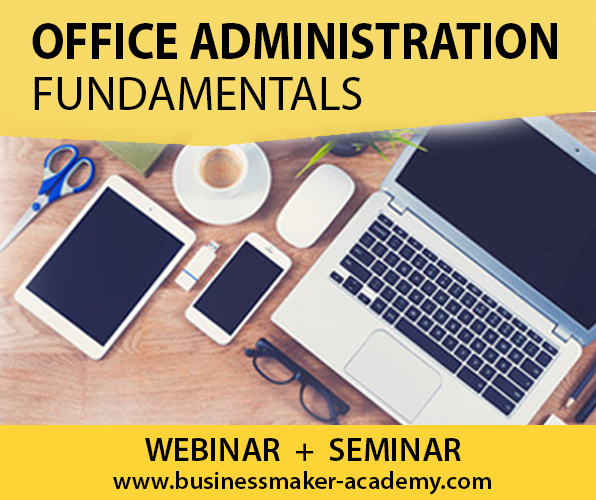 Fundamentals of Office Administration Course by Businessmaker Academy