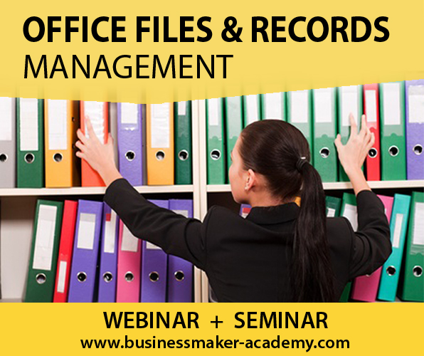 Office Files & Records Management Course by Businessmaker Academy
