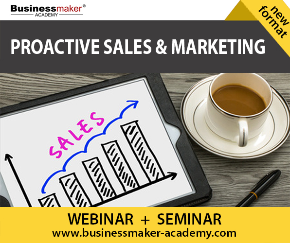Proactive Sales & Marketing Course by Businessmaker Academy