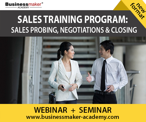 Sales Training Course by Businessmaker Academy