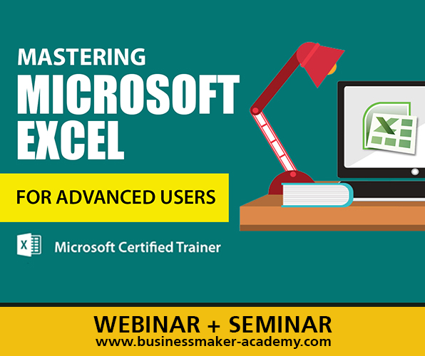 Microsoft Excel for Advanced Users - Course by Businessmaker Academy