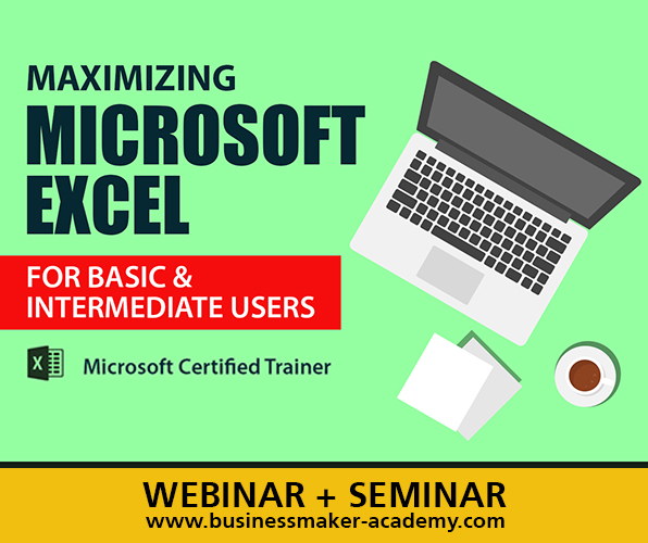 Microsoft Excel for Basic and Intermediate Users - Course by Businessmaker Academy