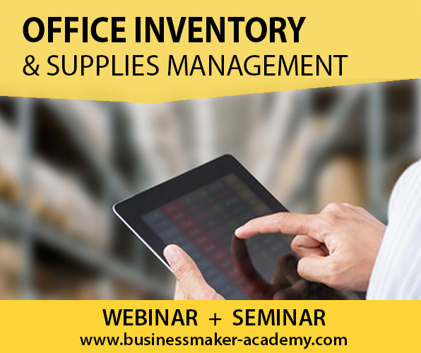 Office Supplies Inventory Management Training by Businessmaker Academy, Inc.