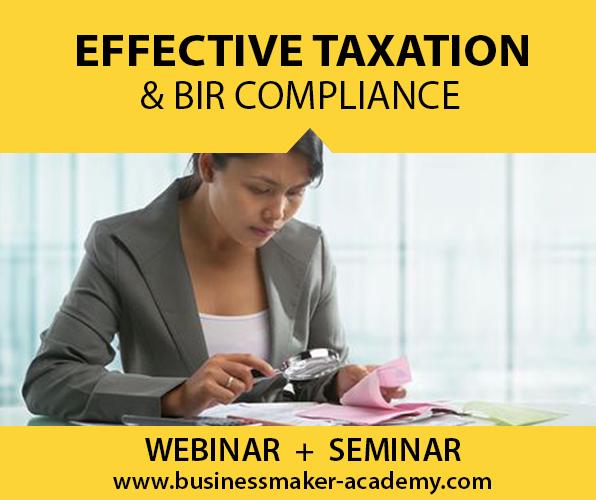 Taxation & BIR Compliance Course Training by Businessmaker Academy