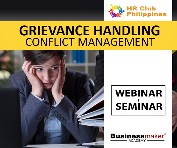 Grievance Handling & Conflict Management Training by Business Maker Academy, Inc.