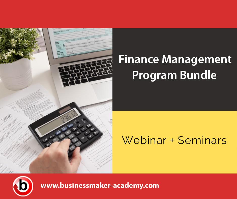 Finance Webinar Training Program Bundle by Businessmaker Academy Philippines
