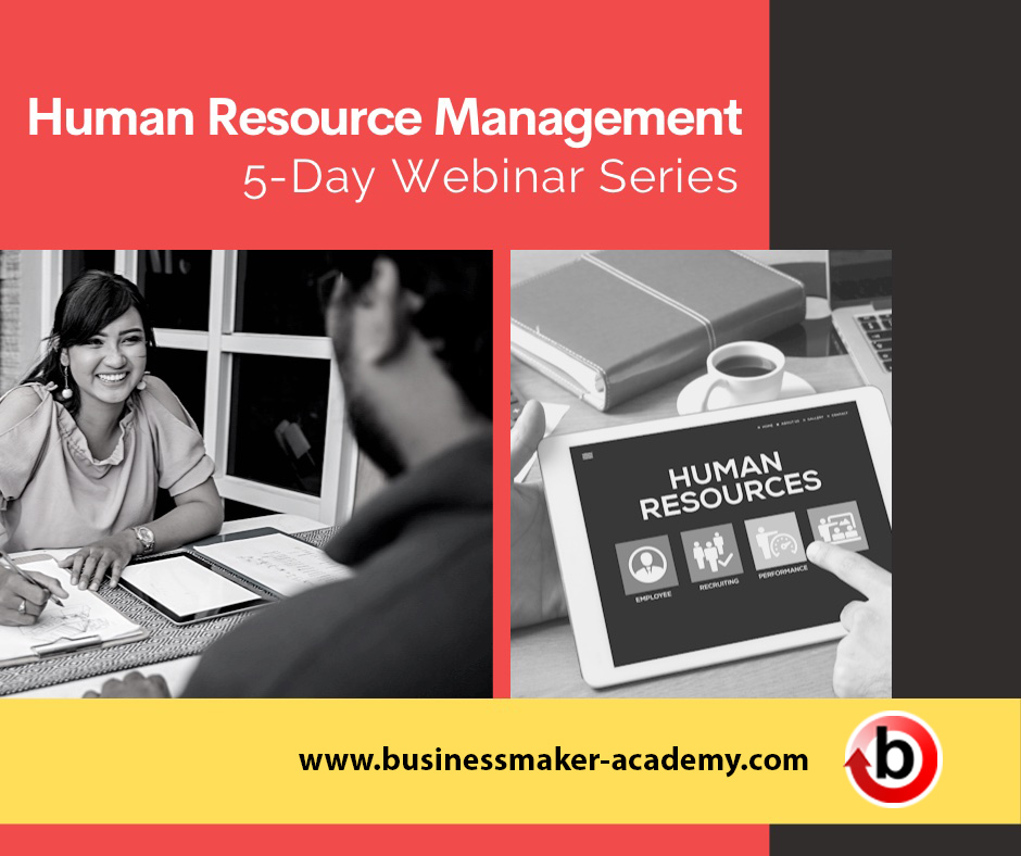 Human Resource Management Webinar and Seminar Training Program Bundle by Businessmaker Academy Philippines