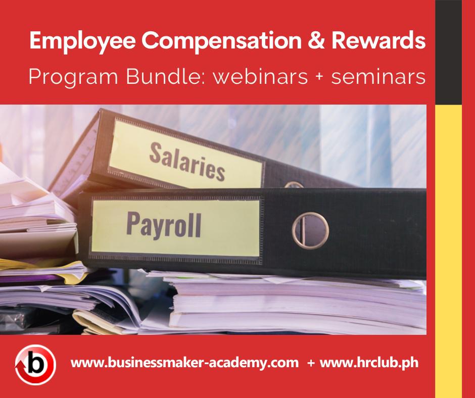 Employee Compensation & Rewards Webinar and Seminar Training Program Bundle by Businessmaker Academy Philippines