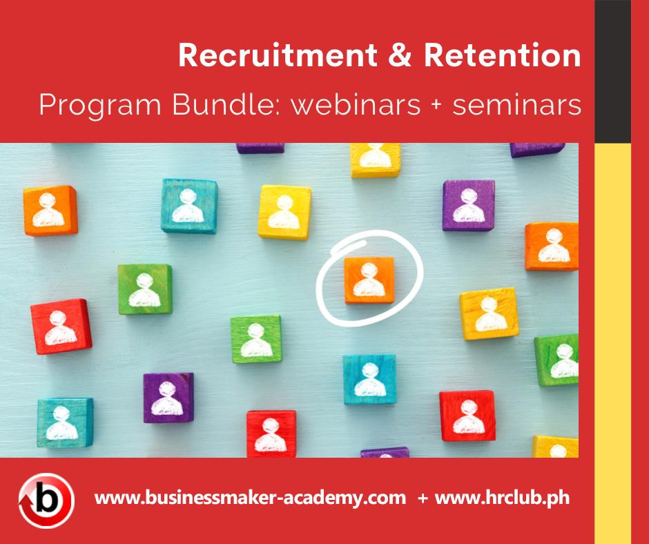 Recruitment and Retention Training Webinar and Seminar Training Program Bundle by Businessmaker Academy Philippines