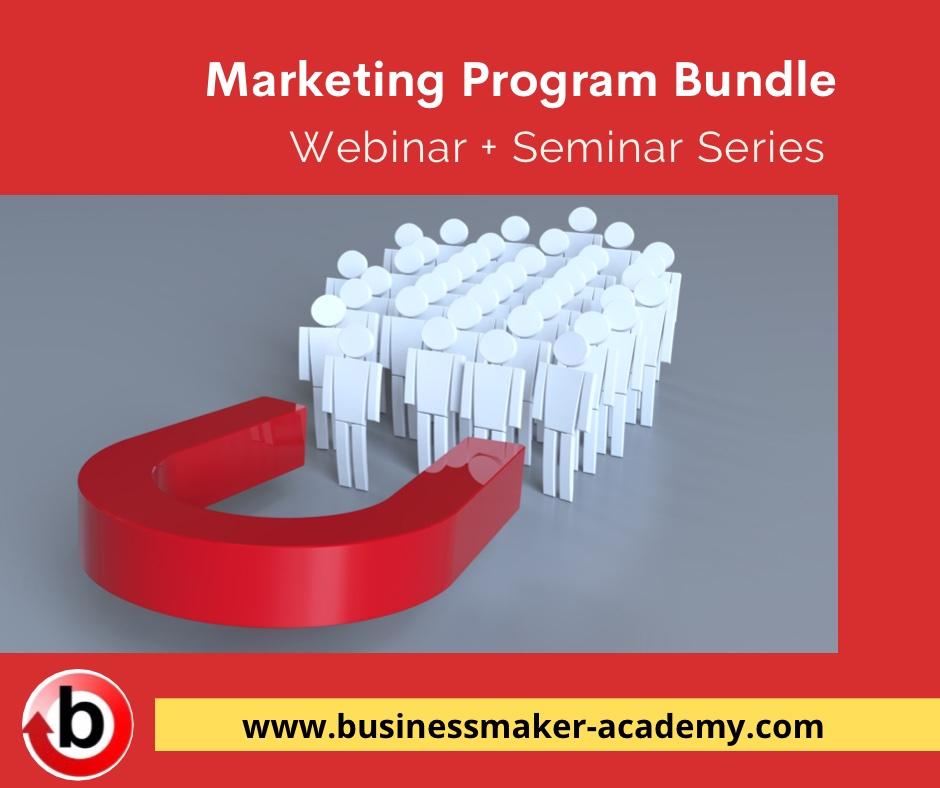Digital Marketing Webinar and Seminar Training Program Bundle by Businessmaker Academy Philippines