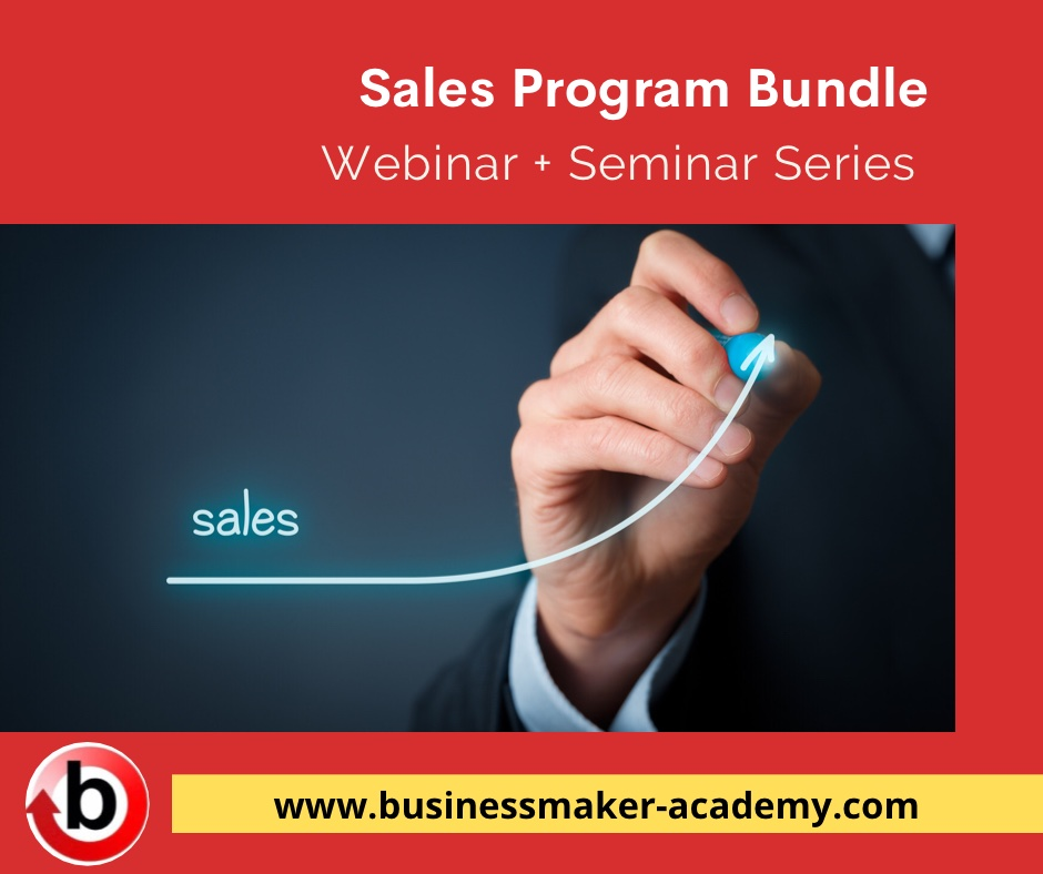 Sales Training Webinar and Seminar Training Program Bundle by Businessmaker Academy Philippines