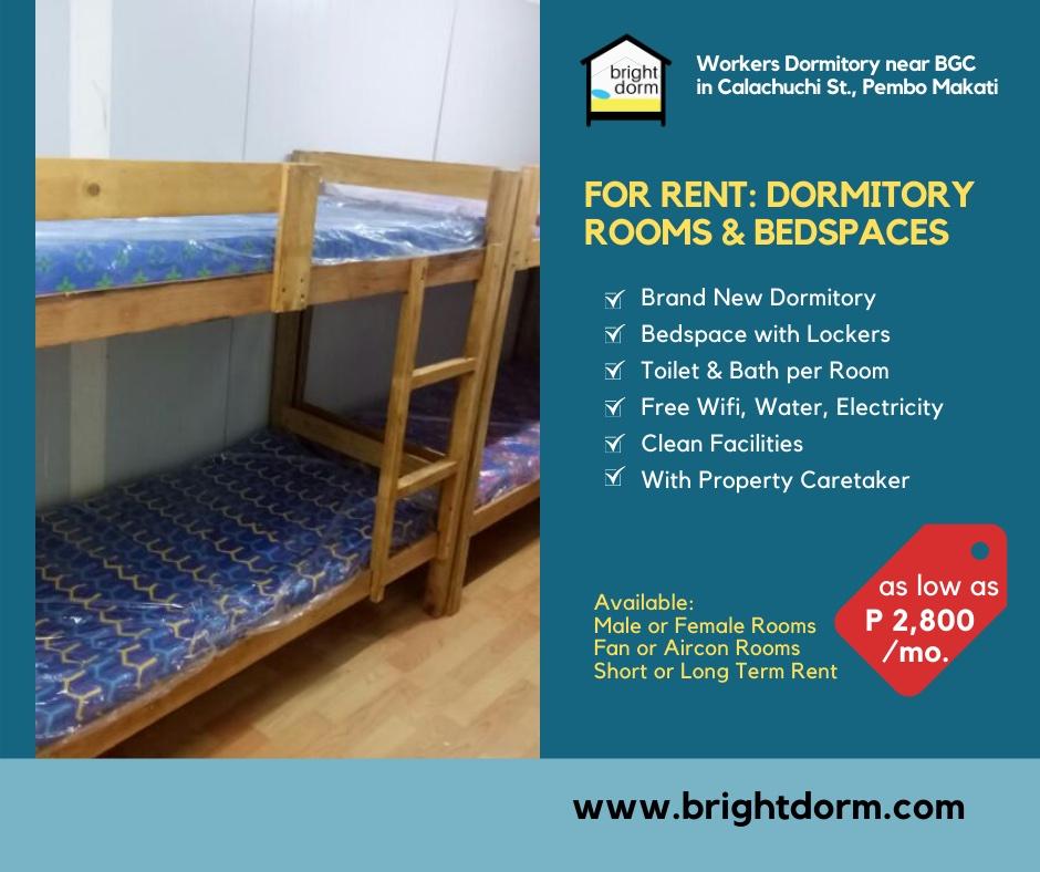 Brightdorm Workers Dormitory in Pembo Makati near BGC